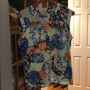 JCrew Floral blouse